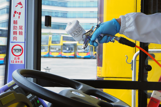 Spray Nano Solution in bus